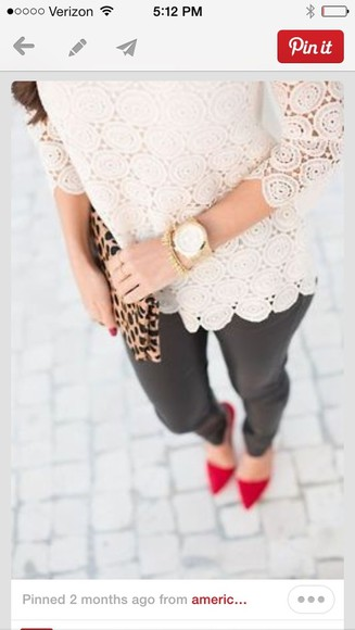 chic white lace blouse top stylish crochet elegant