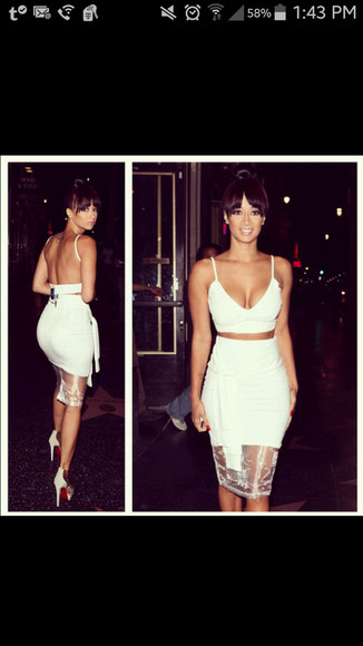 white dress 2 piece outfit