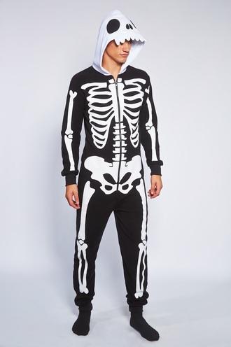 pajamas skeleton onesie halloween halloween costume menswear