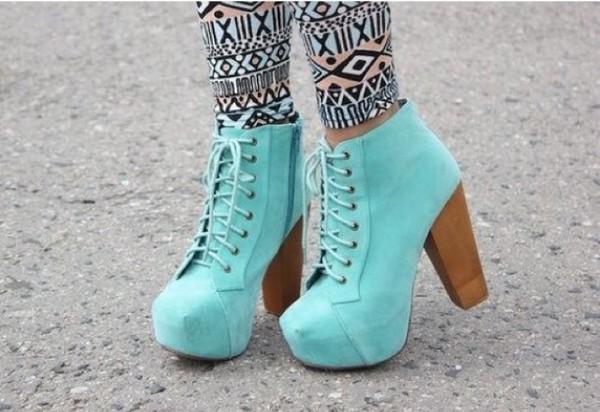 shoes light blue booties heels aqua high heels boots lace up wooden cute light blue heels blue shoes high heels turkise