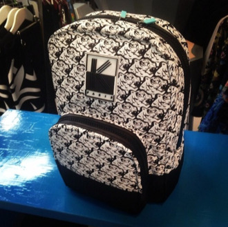 black white bag backpack tiger print
