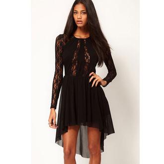 dress black dress black lace dress