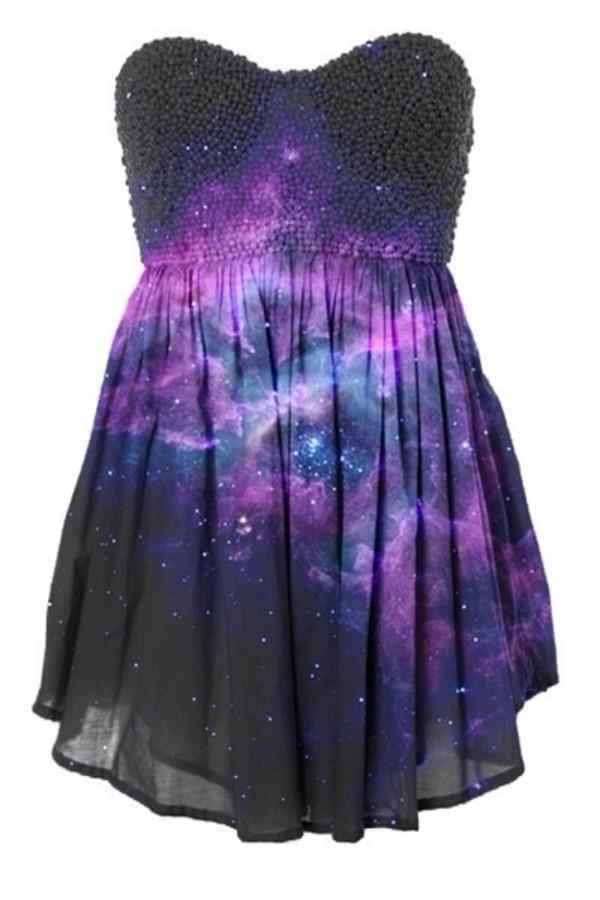 Dress Galaxy Dress Galaxy Print Dress Galaxy Print Wheretoget