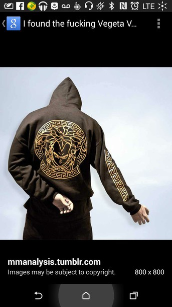jacket versace vegeta mens sweater