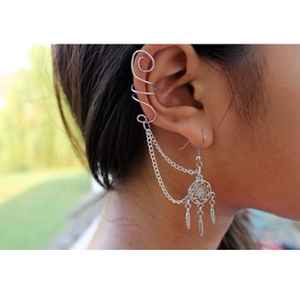 jewels dreamcatcher dreamcatcher earrings earrings earings earing cuff ear cuff