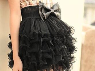 skirt black bow diamonds cute