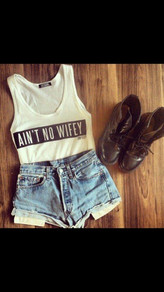 shirt aint no wifey tee top