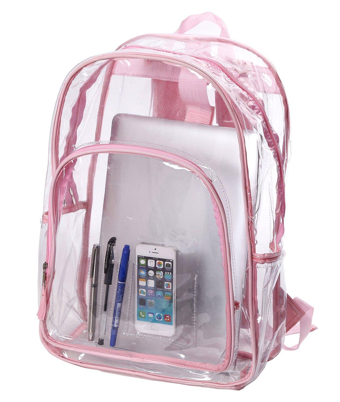 Amazon Com Transparent Clear School Bag See Thru Backpack