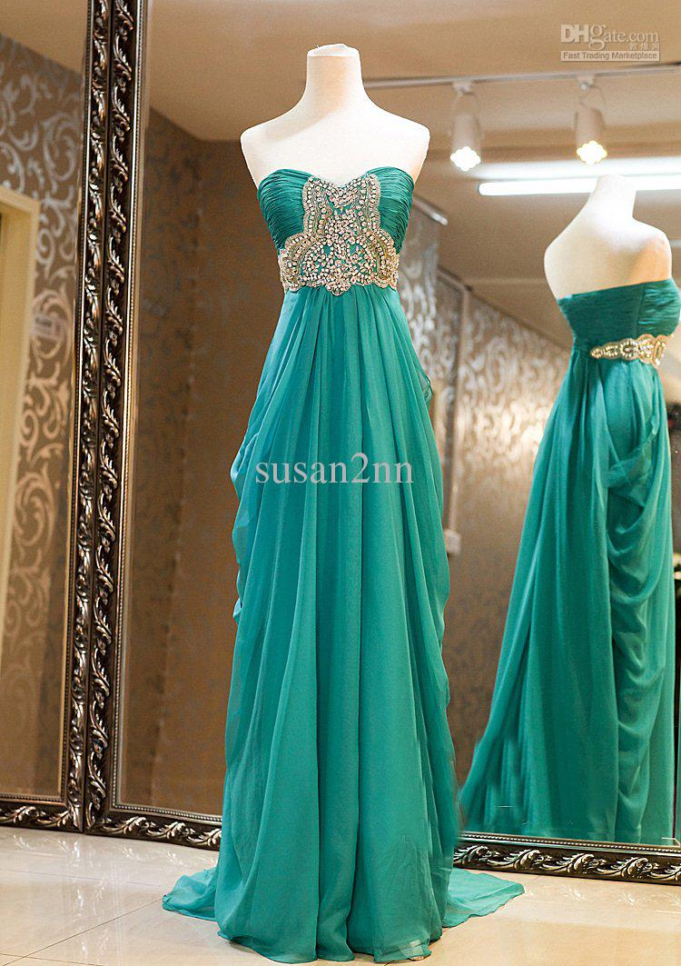 Buy strapless beaded fold a line evening dress prom dress party dress lt981