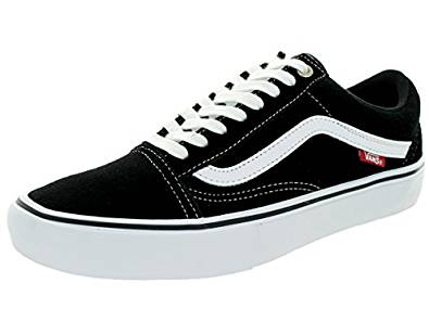 df6c6925aa320 Amazon.com | Vans Old Skool Pro (Black/White/Red) Men's Skate Shoes |  Fashion Sneakers