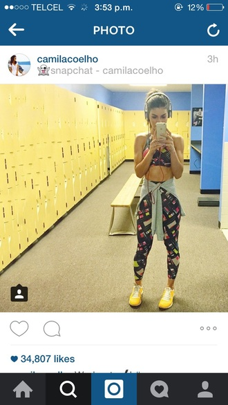 leggings top fitness