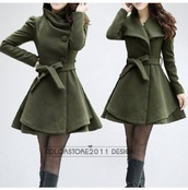 coat,forest green,green jacket