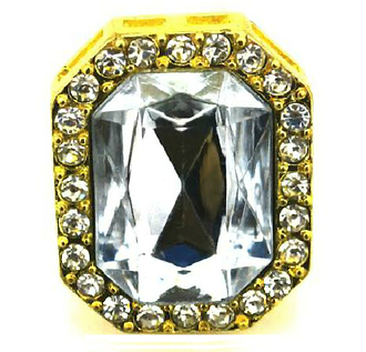 texas jewels gold gotrocks got rocks rich luxe deluxe statement ring goldtone crystal quartz emerald cut rectangular dynasty diva ring statement jewelry trendy slick big chunky oversized glam vegas