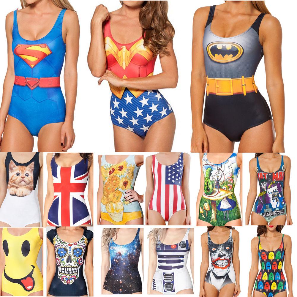 Sexy women's swimwear digital printing one
