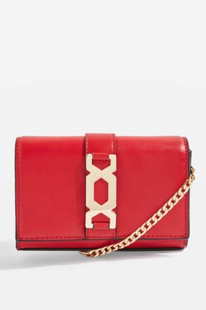 Topshop cross bag red