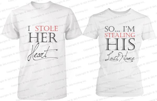 His And Her Wedding Gifts Ideas : stealing his, i stole her heart so im stealing his last name, gift ...