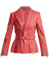 jacket,biker jacket,leather,pink