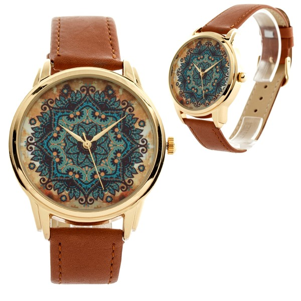 jewels watch watch gold brown blue ziz watch ziziztime