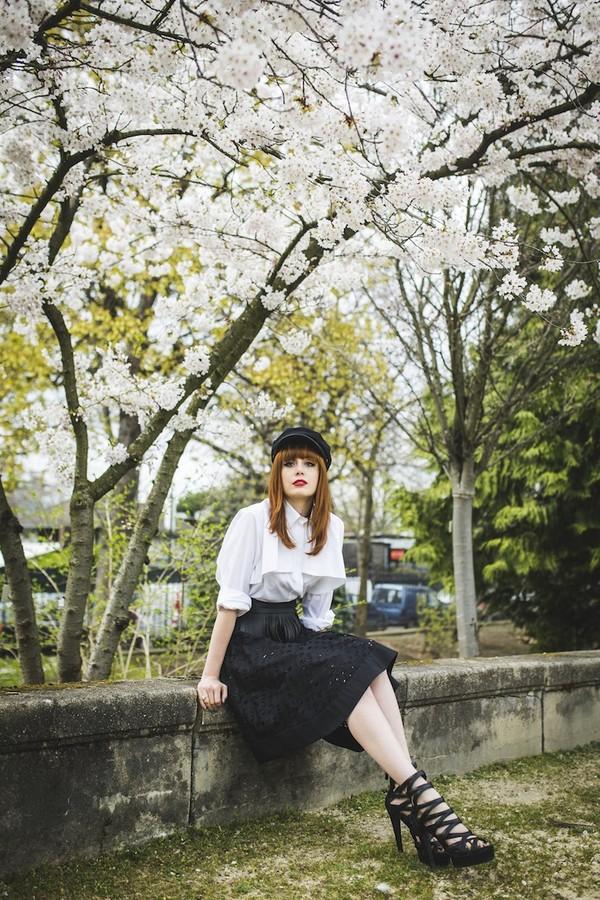 miss pandora skirt shirt belt shoes