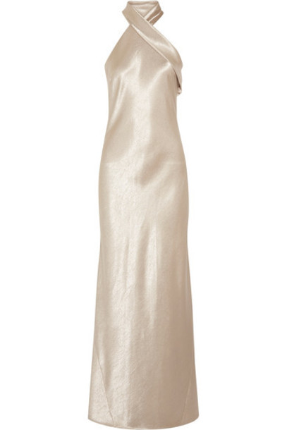 Galvan gown satin dress