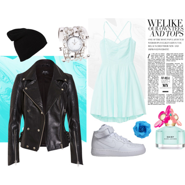Leather jacket combination - Polyvore