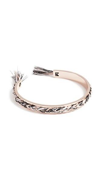Rebecca Minkoff cuff braided rose gold rose gold blush jewels