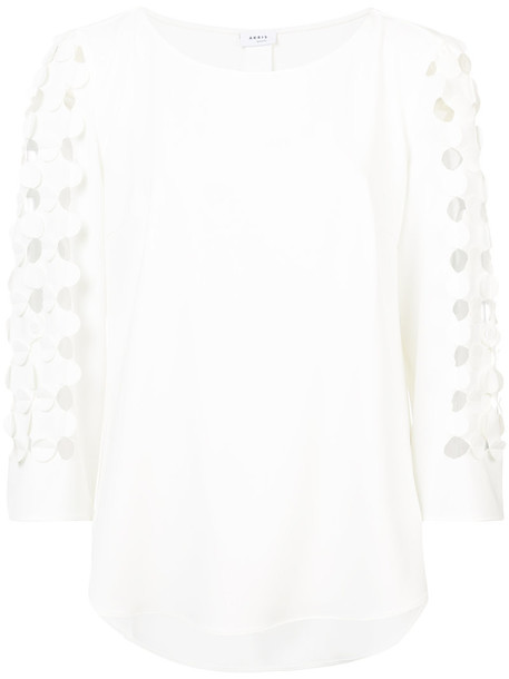 Akris punto blouse women white top