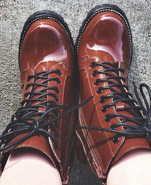 shoes boots combat boots brown combat boots brown boots shiny winter boots hot