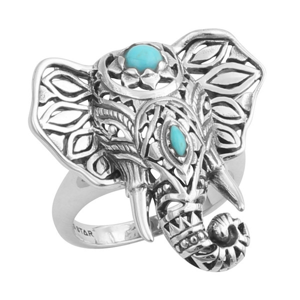 Third Eye Decorated Elephant Ring