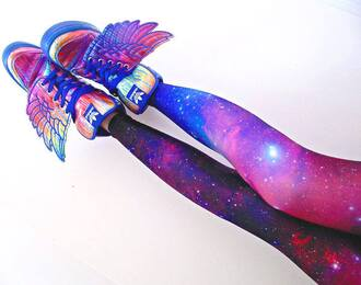 blackmilk trainers sneakers galaxy print wings winged shoes jeremy scott