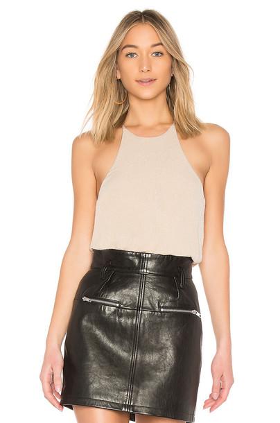 bodysuit metallic neutral underwear
