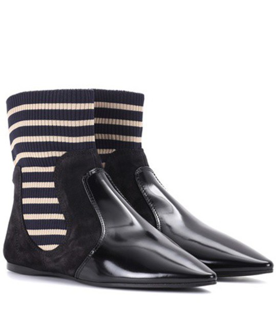Acne Studios Amalee suede ankle boots in black