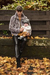 thank fifi,blogger,jacket,sweater,leggings,shoes,hat,pants,socks,mother and child,baby clothing,fall outfits