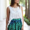 Blue green tribal skirt - furor moda - tops - dresses - jackets - vintage