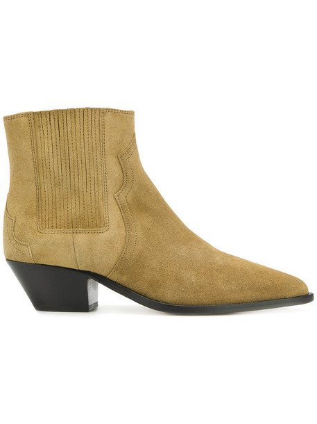 Isabel Marant women leather brown shoes