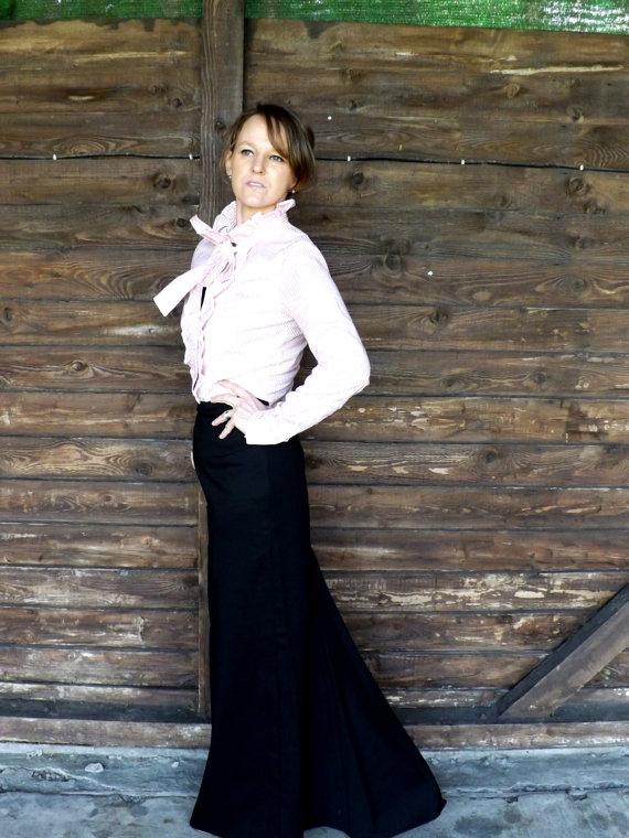 Black maxi skirt pencil maxi skirt floor length by jolydagmara