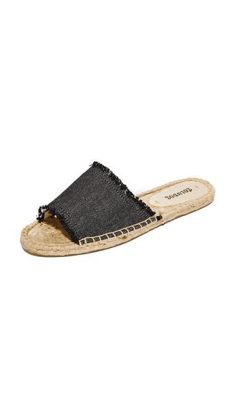 Soludos Espadrille Slide Sandals - Black