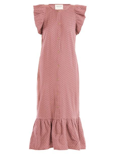 dress jacquard cotton light pink light pink