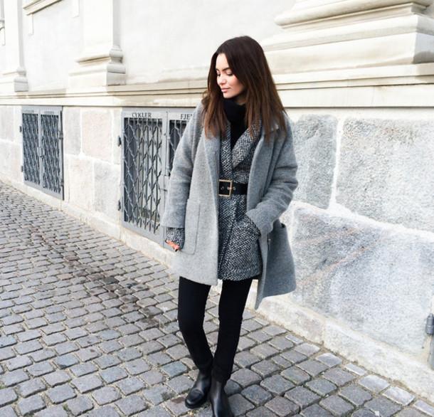 by funda blogger coat jacket belt shoes aigle