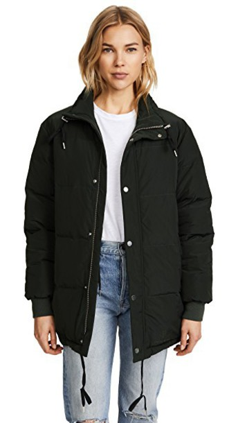 Anine Bing jacket puffer jacket green
