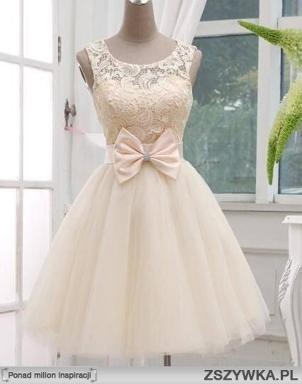 dress formal dress beige dress bow dress dress lace dress