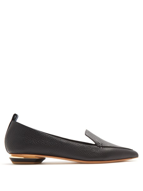 Nicholas Kirkwood loafers leather black shoes