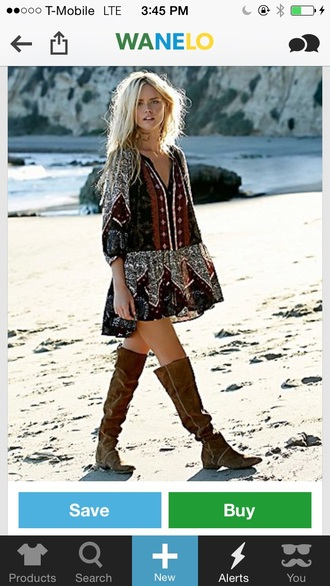 shoes free people boots boho dress
