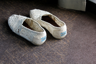 flat toms crochet white shoes shoes