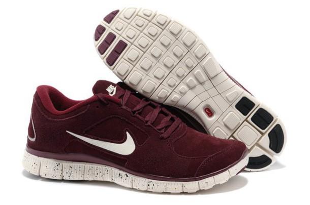 reputable site 27b36 8db98 shoes bordeaux rood nike suede sneakers nike free run nike