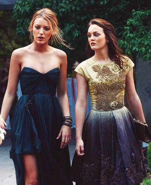dress party dress gossip girl serena serena van der woodsen blake lively blair waldorf leighton meester blouse