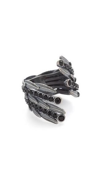 dark statement ring statement ring silver jewels