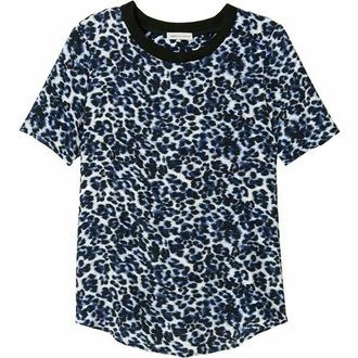 t-shirt lepoard print lynx blue