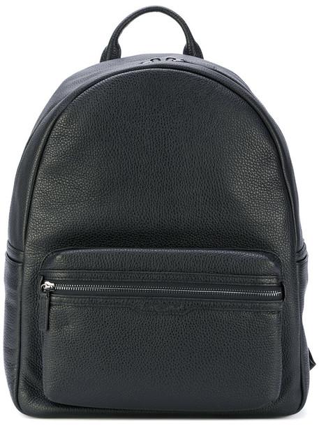 lancaster women backpack leather black bag