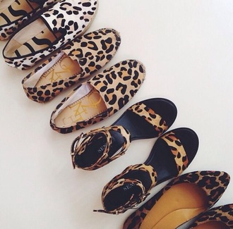 shoes animal print flats ballet flats sandals slip on shoes